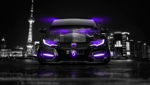 Honda-Civic-Type-R-Front-Crystal-City-Car-2014-Violet-Neon-design-by-Tony-Kokhan-[www.el-tony.com]