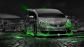 Honda-Fit-RS-JDM-Tuning-Crystal-City-Car-2014-Green-Neon-design-by-Tony-Kokhan-[www.el-tony.com]