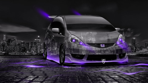 Honda-Fit-RS-JDM-Tuning-Crystal-City-Car-2014-Violet-Neon-design-by-Tony-Kokhan-[www.el-tony.com]