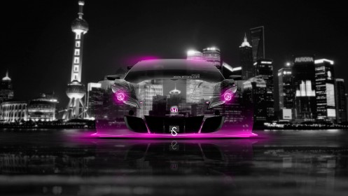 Honda-HSV-Crystal-City-Car-2014-Pink-Neon-design-by-Tony-Kokhan-[www.el-tony.com]