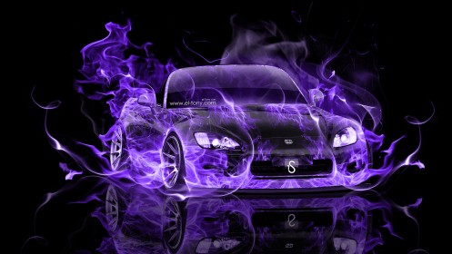 Honda-S2000-Violet-Fire-Abstract-Car-2014-HD-Wallpapers-design-by-Tony-Kokhan-[www.el-tony.com]