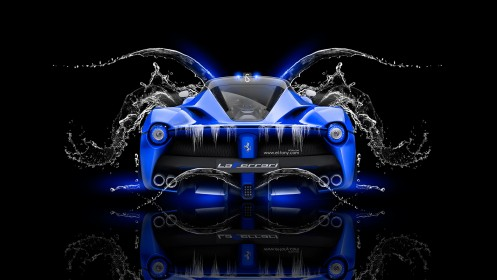 Laferrari-Back-Water-Car-2014-Blue-Neon-design-by-Tony-Kokhan-[www.el-tony.com]