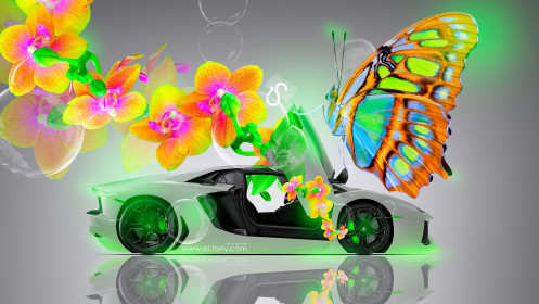 Lamborghini-Aventador-Open-Doors-Fantasy-Flowers-Butterfly-Car-2014-design-by-Tony-Kokhan-[www.el-tony.com]