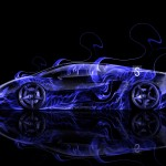 Lamborghini Gallardo Side Fire Abstract Car 2014