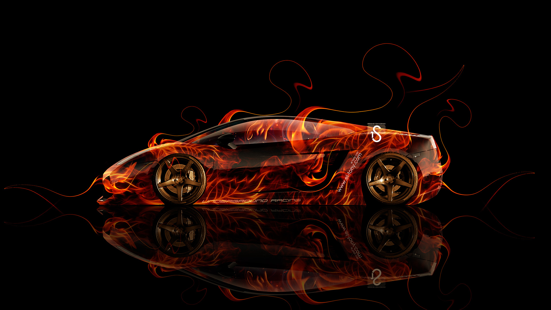 Ordinaire Lamborghini Gallardo Side Fire Abstract Car 2014 HD  ...