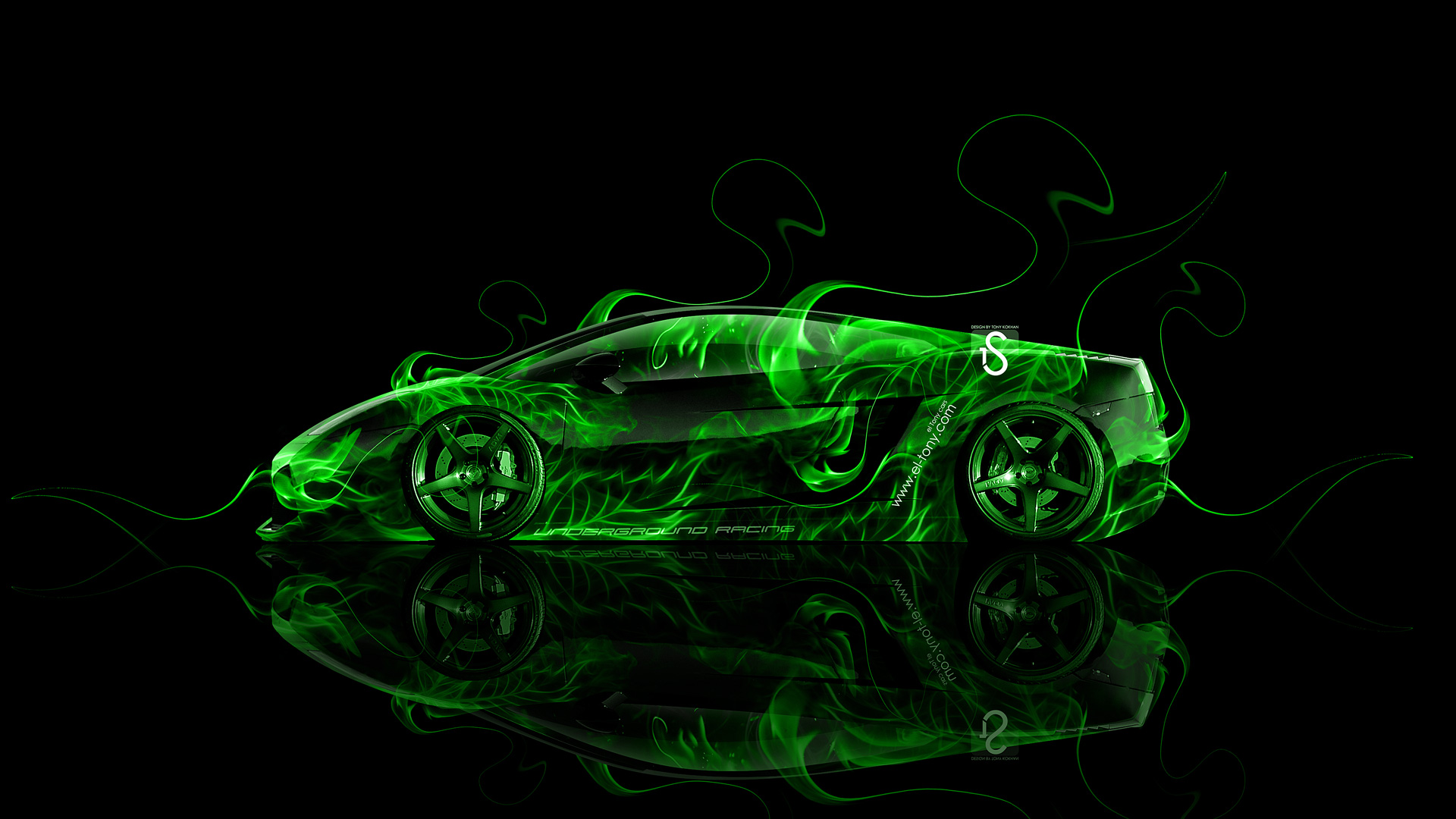 Lamborghini Aventador J Fire Abstract Car 2014 | El Tony