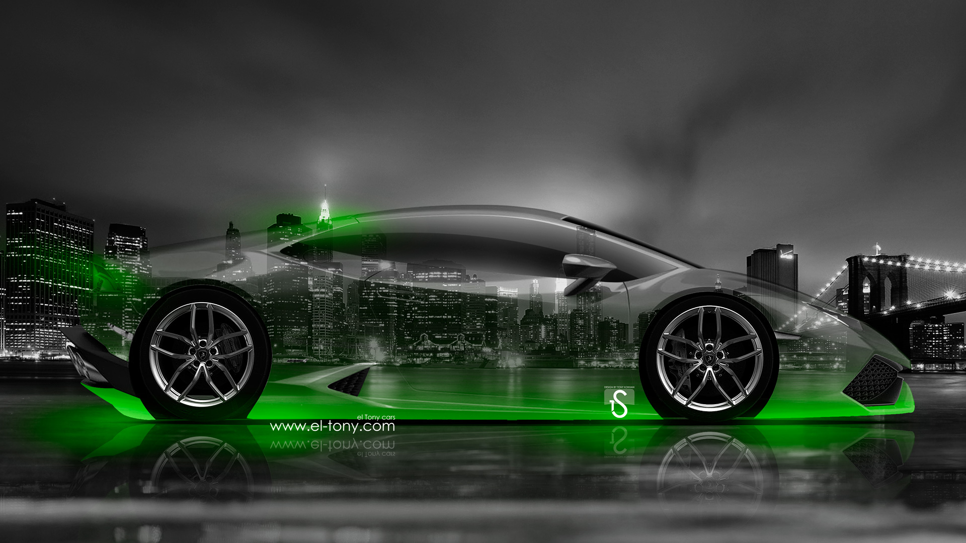 Beau ... Lamborghini Huracan Side Crystal City Car 2014 Green  ...
