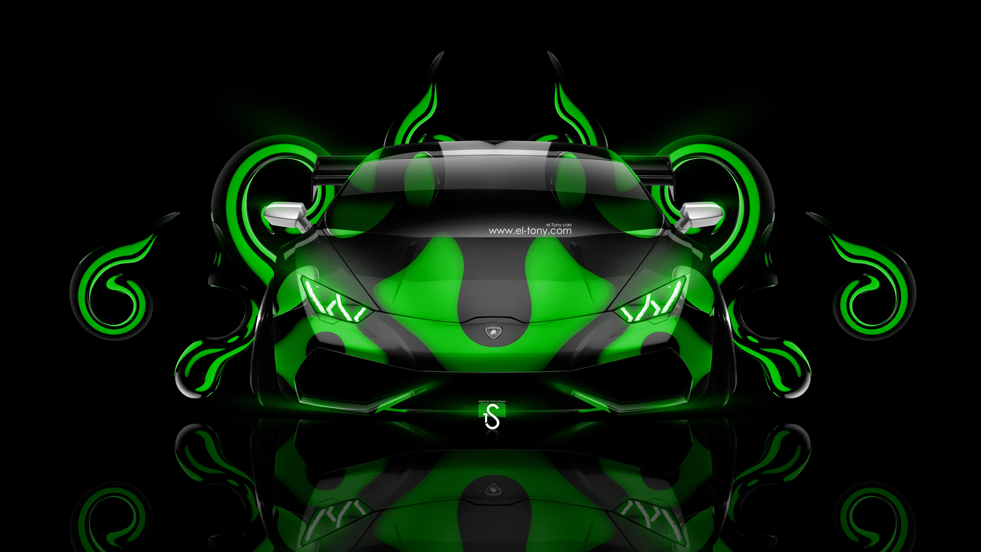 Lamborghini Huracan Tuning Front Plastic Abstract Car 2014 .