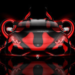 Lamborghini Huracan Tuning Front Plastic Abstract Car 2014