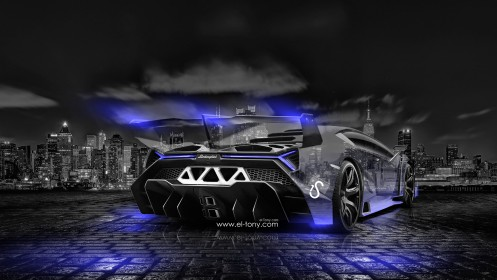 Lamborghini-Veneno-Crystal-City-Car-2014-Blue-Neon-design-by-Tony-Kokhan-[www.el-tony.com]