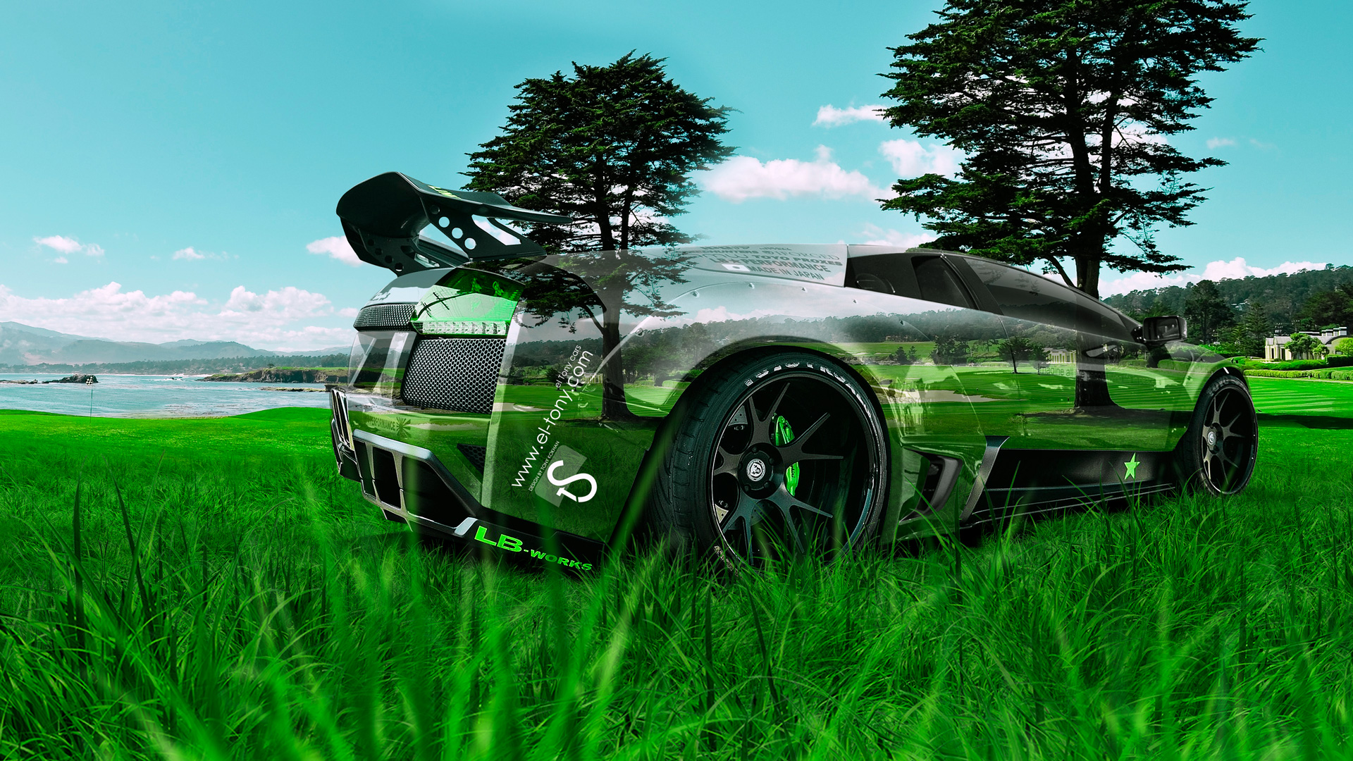 Beau Lamborghni Murcielago Tuning Crystal Nature Car 2014 Design