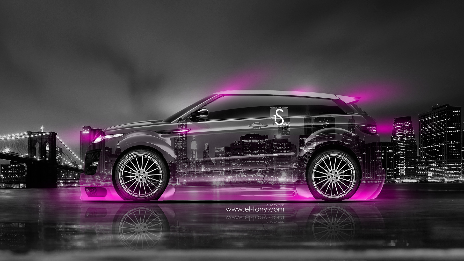 Land-Rover-Evoque-Crystal-City-Car-2014-Pink-Neon-design-by-Tony-Kokhan-[www.el-tony.com]