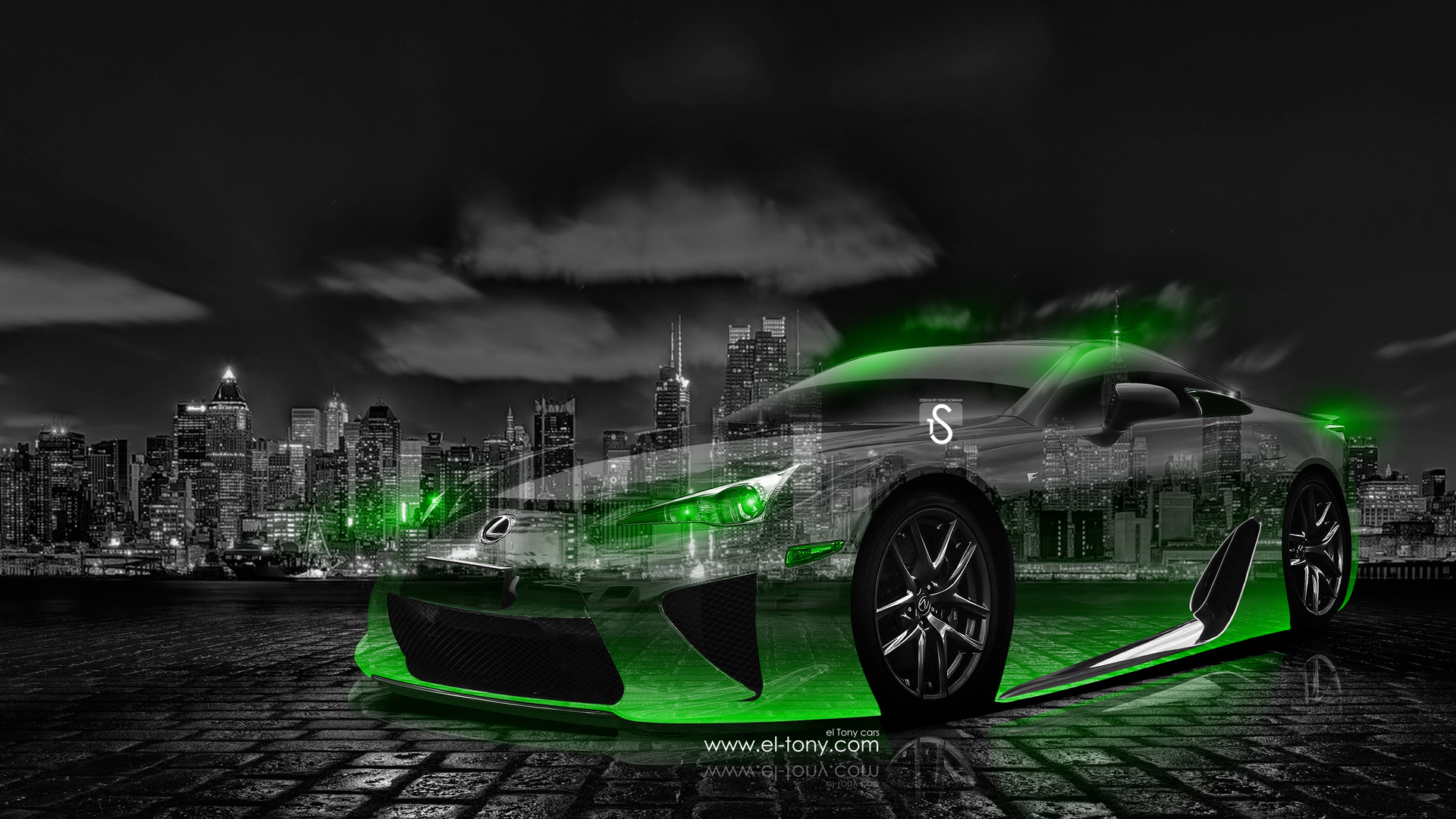 Charmant Lexus LFA Crystal City Car 2014 Green Neon