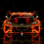 Lexus LFA Front Tuning Fire Car 2014