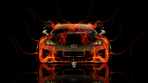 Lexus-LFA-Front-Tuning-Fire-Car-2014-HD-Wallpapers-design-by-Tony-Kokhan-[www.el-tony.com]