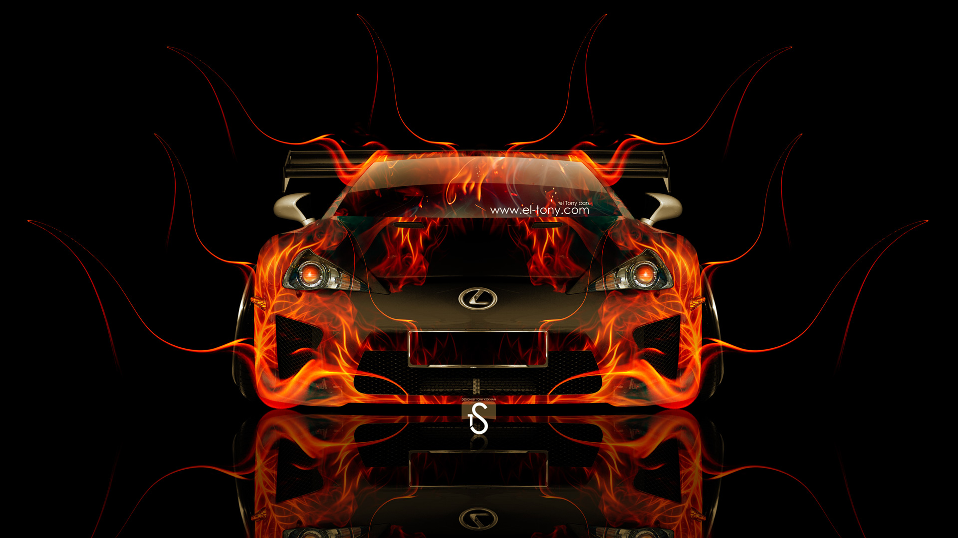 Lexus LFA Front Tuning Fire Car 2014 HD