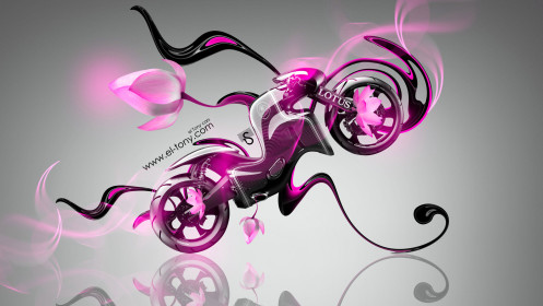 Lotus-C-01-Fantasy-Flowers-Moto-Bike-2014-Pink-Neon-HD-Wallpapers-design-by-Tony-Kokhan-[www.el-tony.com]