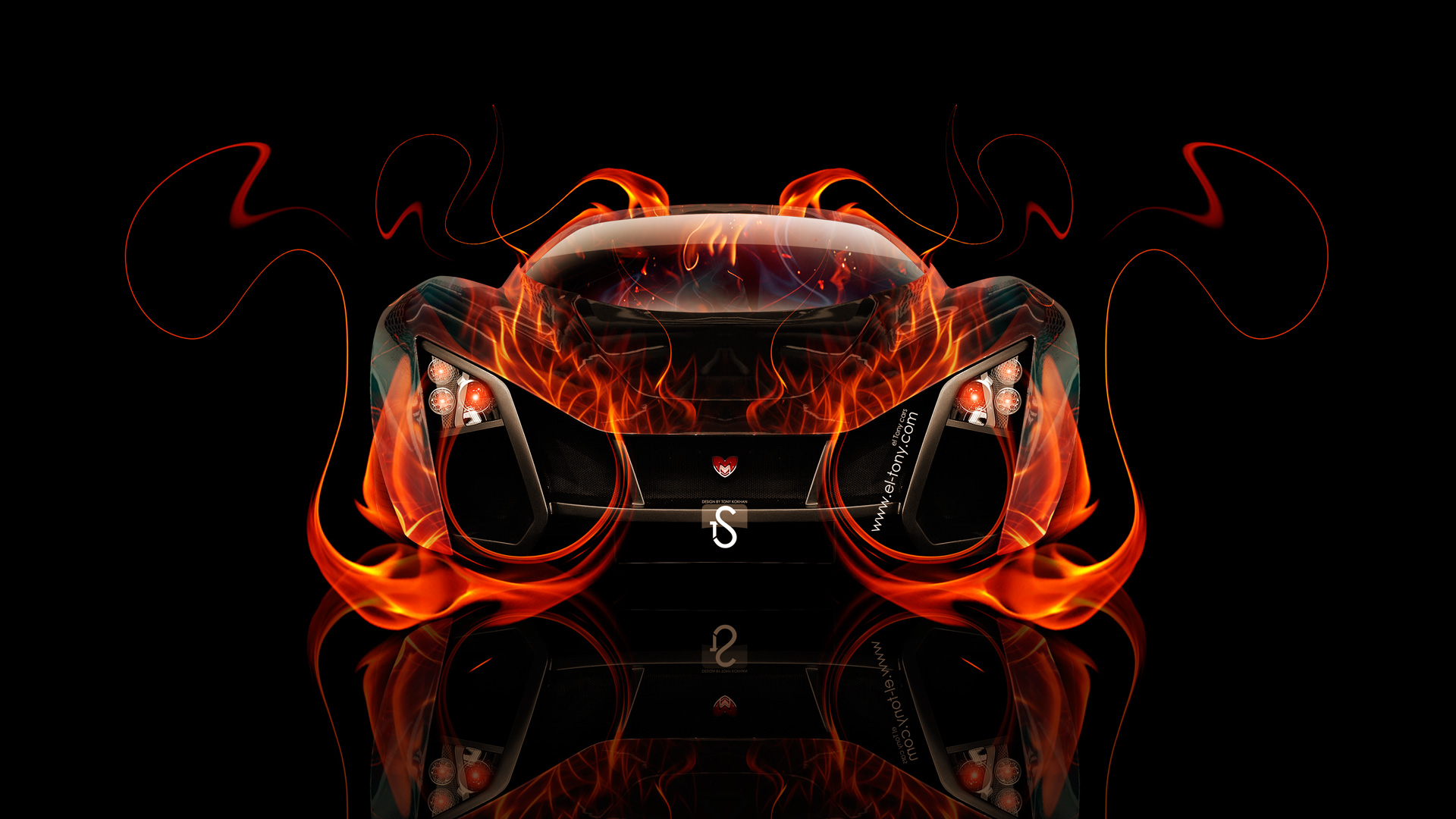 Merveilleux Marussia Russian Fire Abstract Car 2014 Design By