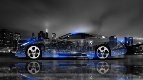 Maybach-Exelero-Side-Crystal-City-Car-2014-Blue-Neon-design-by-Tony-Kokhan-[www.el-tony.com]