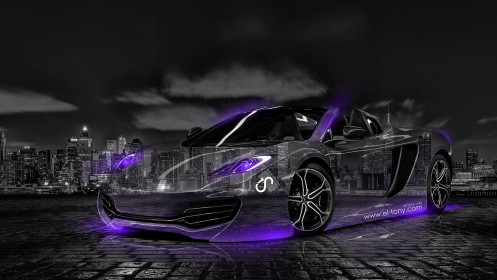 McLaren-MP4-12C-Crystal-City-Car-2014-Violet-Neon-HD-Wallpapers-design-by-Tony-Kokhan-[www.el-tony.com]