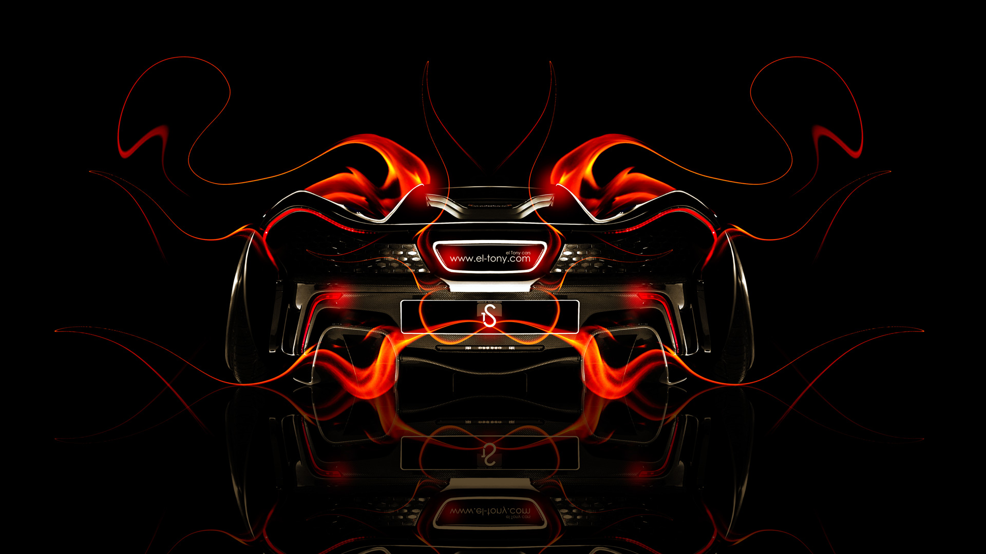 Exceptionnel McLaren P1 Back Fire Abstract Car 2014 HD