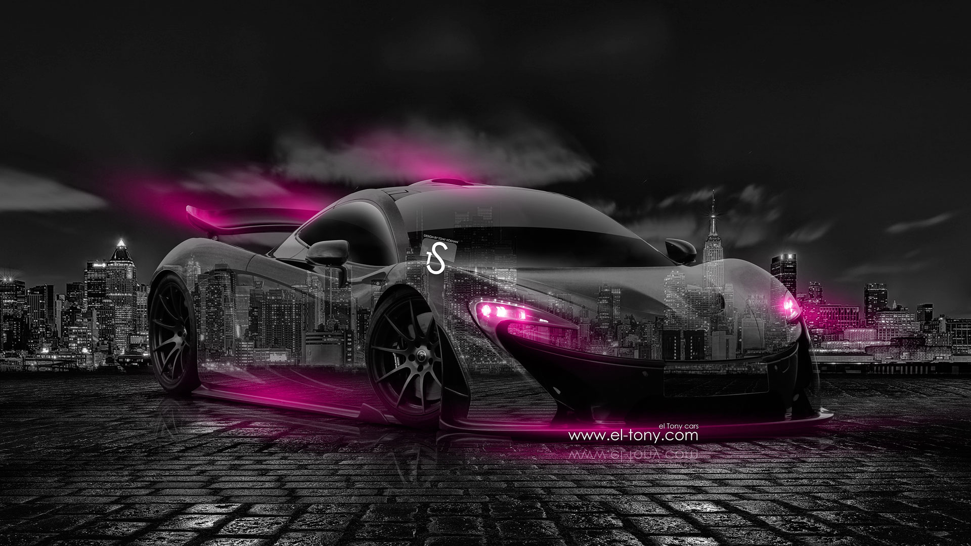 McLaren P1 Crystal City Car 2014 Pink Neon . McLaren P1 Open