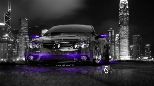 Mercedes-SL55-Crystal-City-Car-2014-Violet-Neon-HD-Wallpapers-design-by-Tony-Kokhan-[www.el-tony.com]