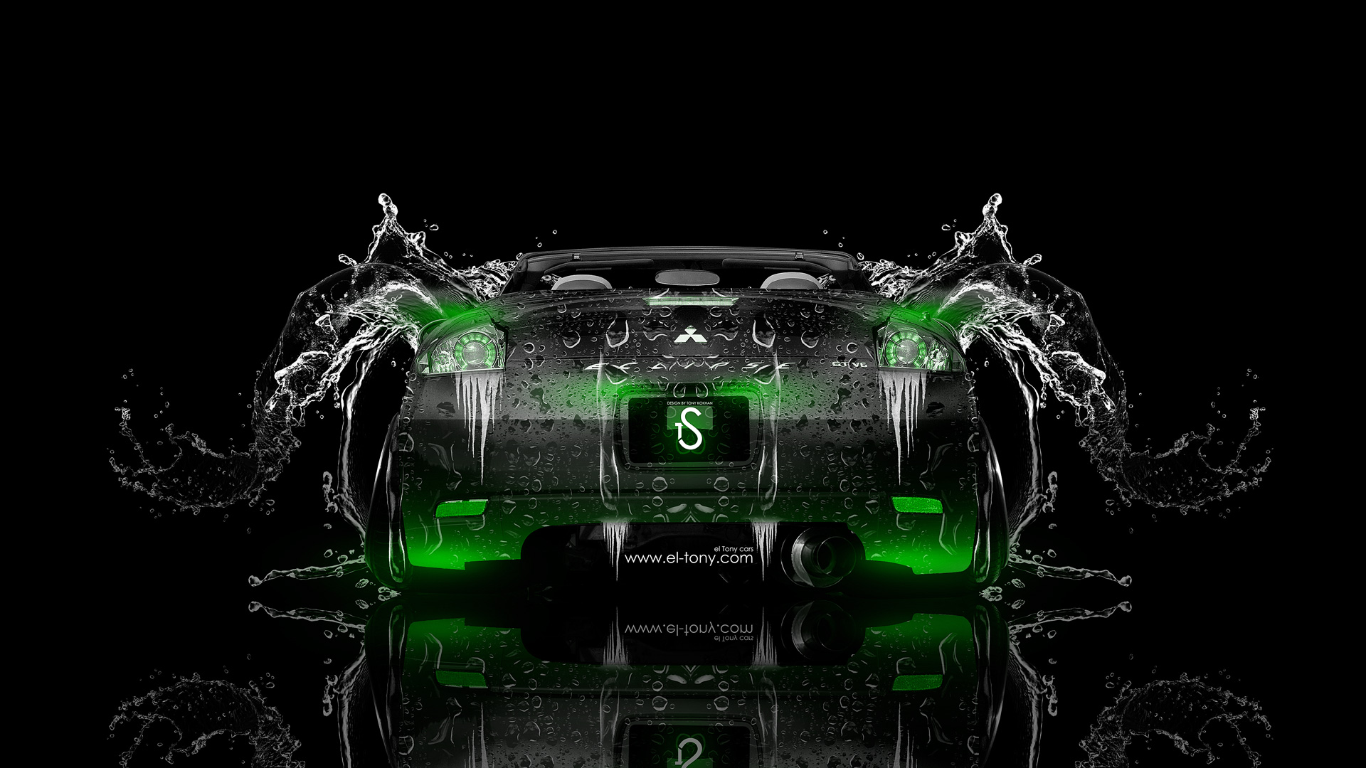 Delicieux Mitsubishi Eclipse Back Water Car 2014 Green Neon
