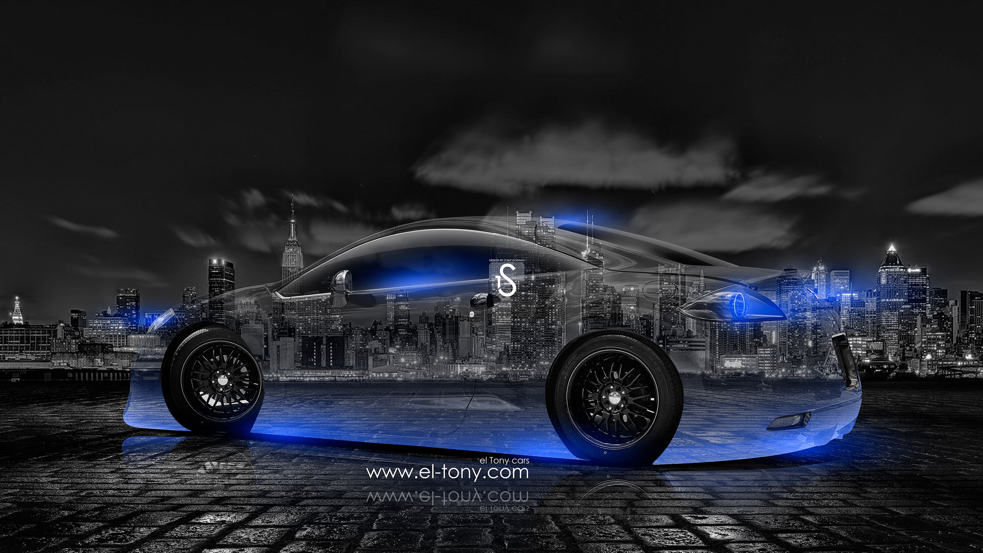 Merveilleux ... Mitsubishi Eclipse JDM Crystal City Car 2014 Blue  ...