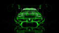 Mitsubishi-Lancer-Evolution-JDM-Back-Green-Fire-Car-2014-HD-Wallpapers-design-by-Tony-Kokhan-[www.el-tony.com]
