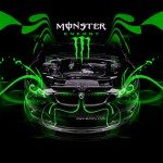 Monster Energy BMW M3 Engine Open Car 2014