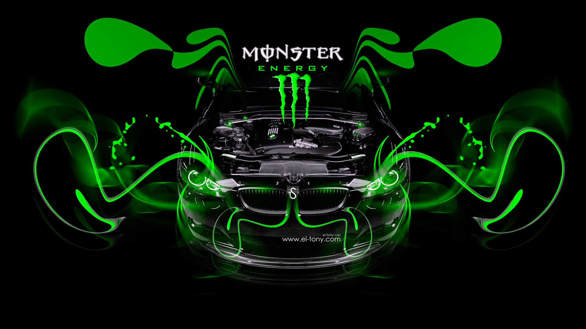 Awesome Monster Energy BMW M3 Engine Open Car 2014