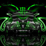 Monster Energy Honda CR-Z Tuning Plastic Car 2014