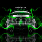 Monster Energy Honda Civic Type-R Plastic Car 2014