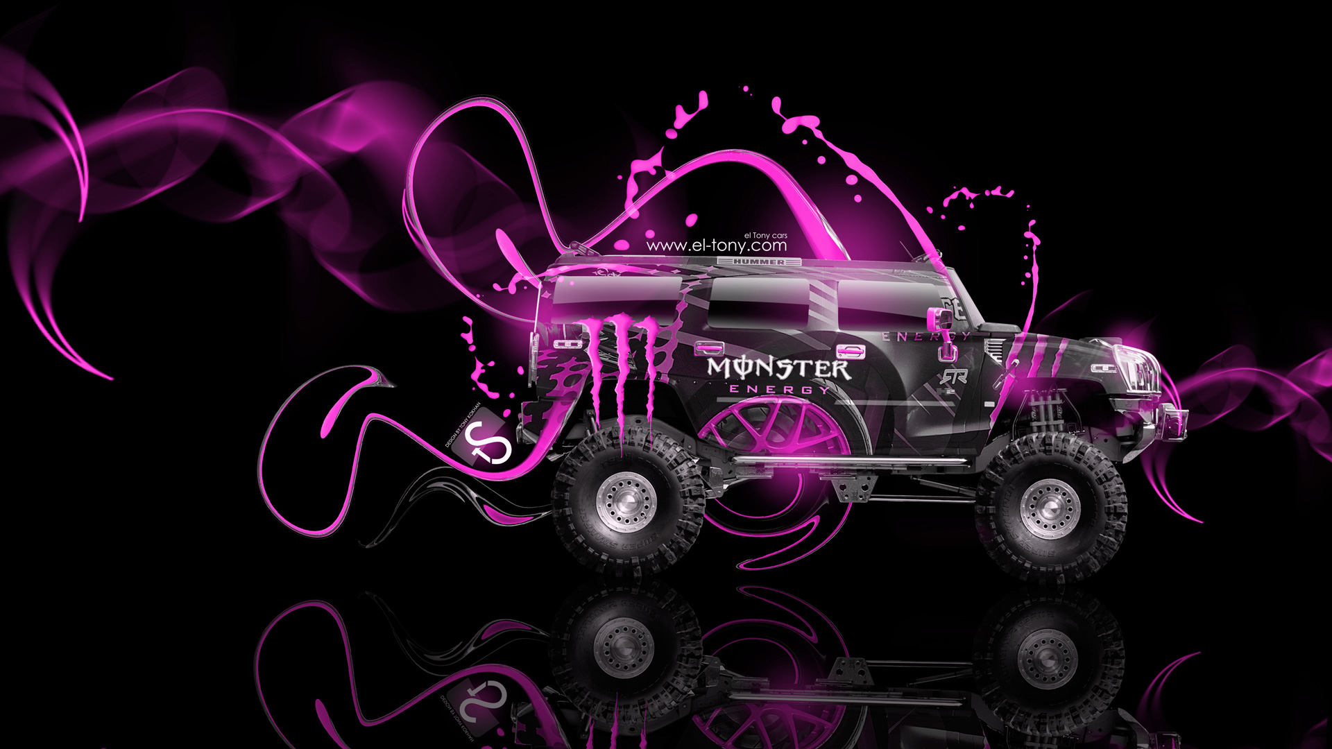 Monster Energy Hummer Fantasy Plastic Car El Tony
