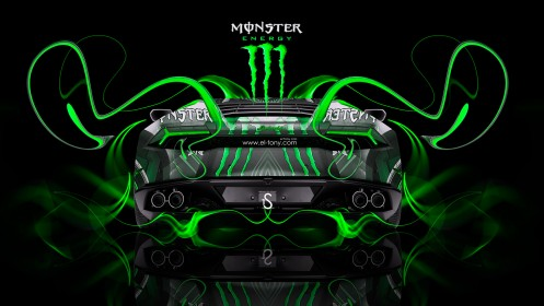 Monster-Energy-Lamborghini-Huracan-Back-Green-Plastic-Car-2014-by-Tony-Kokhan-[www.el-tony.com]