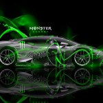 Monster Energy Lamborghini Huracan Plastic Car 2014