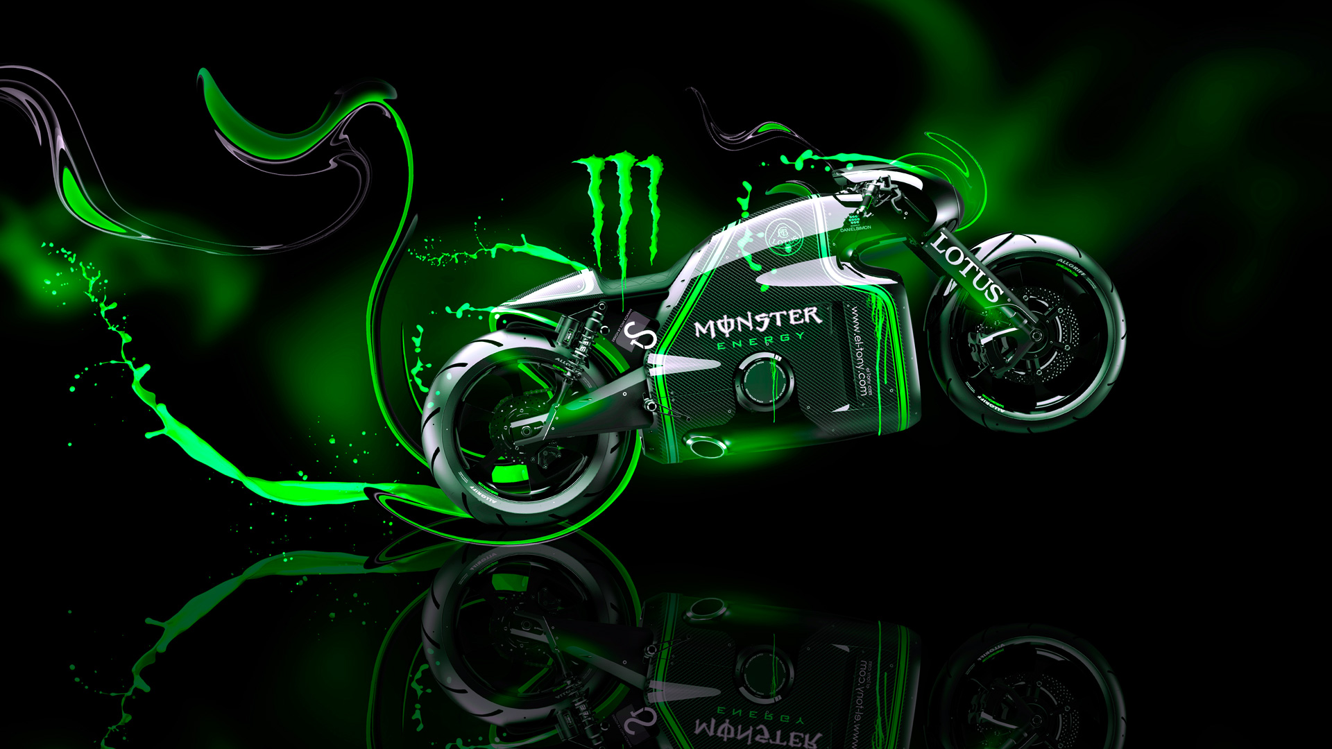 Monster Energy Lotus C 01 Fantasy Plastic Bike