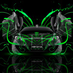 Monster Energy McLaren MP4-12C Open Doors Plastic Car 2014