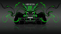 Monster-Energy-McLaren-P1-Back-Green-Neon-Plastic-Car-2014-design-by-Tony-Kokhan-[www.el-tony.com]