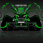 Monster Energy McLaren P1 Back Plastic Car 2014