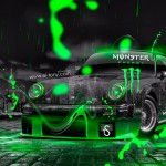 Monster Energy Porsche 911 Turbo 1976 Crystal Neon Car 2014