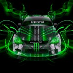 Monster Energy Toyota Altezza Neon Plastic Car 2014
