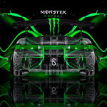 Monster Energy Toyota Mark2 JZX90 Plastic Car 2014