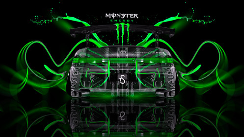 Monster-Energy-Toyota-Mark2-JZX90-JDM-Back-Green-Plastic-Car-2014-design-by-Tony-Kokhan-[www.el-tony.com]