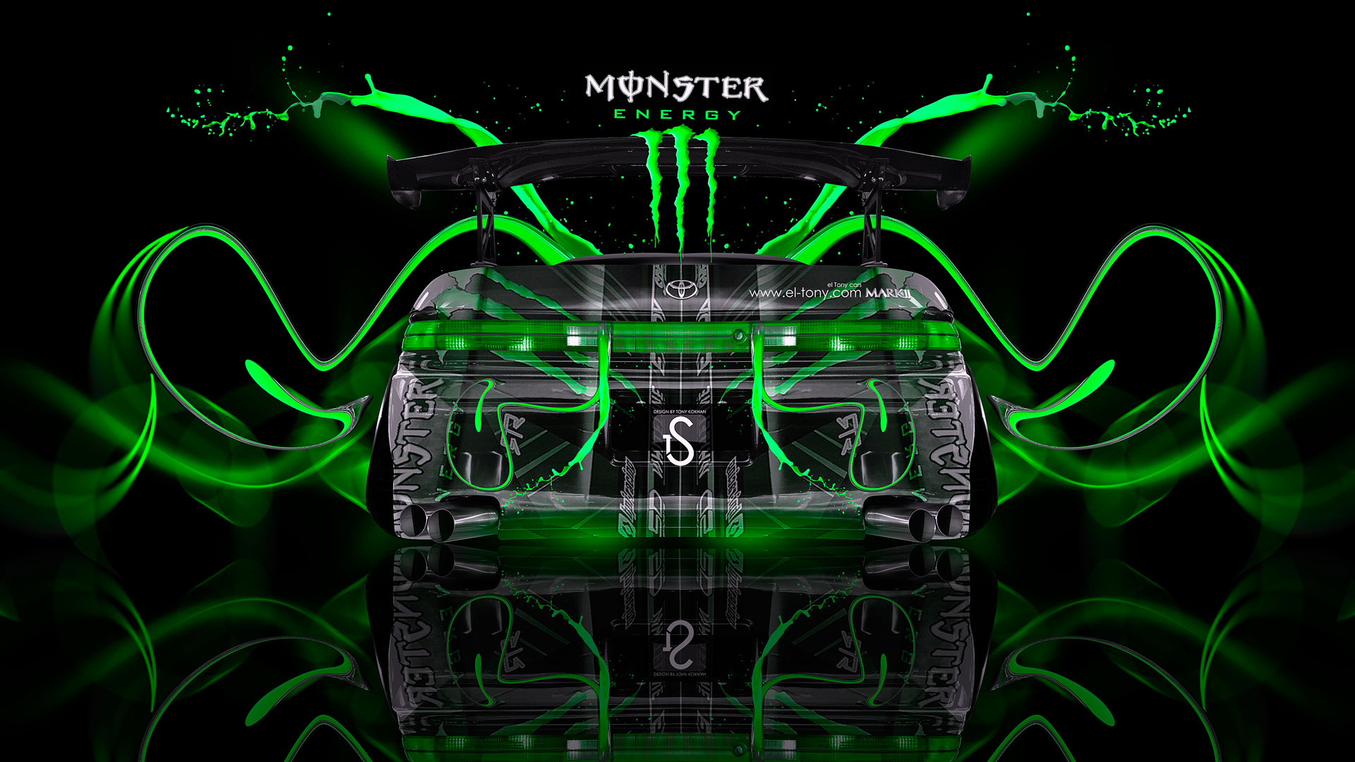Merveilleux Monster Energy Toyota Mark2 JZX90 Plastic Car 2014