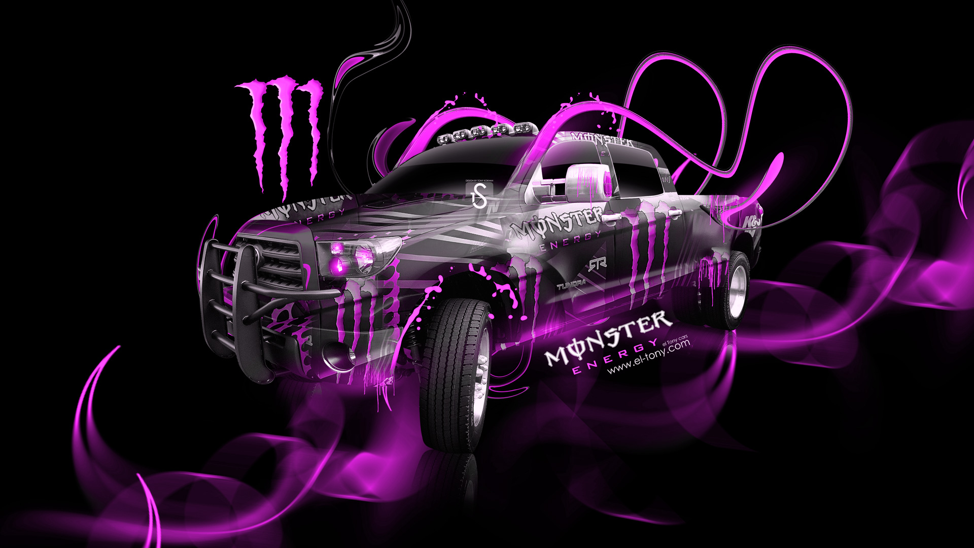 Monster Energy Toyota Tundra Fantasy Plastic Car El Tony