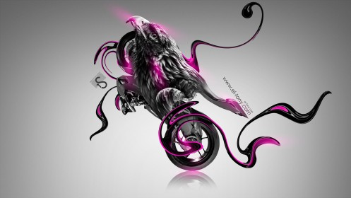 Moto-Ducati-1199-Fantasy-Bird-Bike-2014-Pink-Neon-design-by-Tony-Kokhan-[www.el-tony.com]