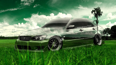 Toyota-Altezza-JDM-Crystal-Nature-Car-2014-HD-Wallpapers-design-by-Tony-Kokhan-[www.el-tony.com]