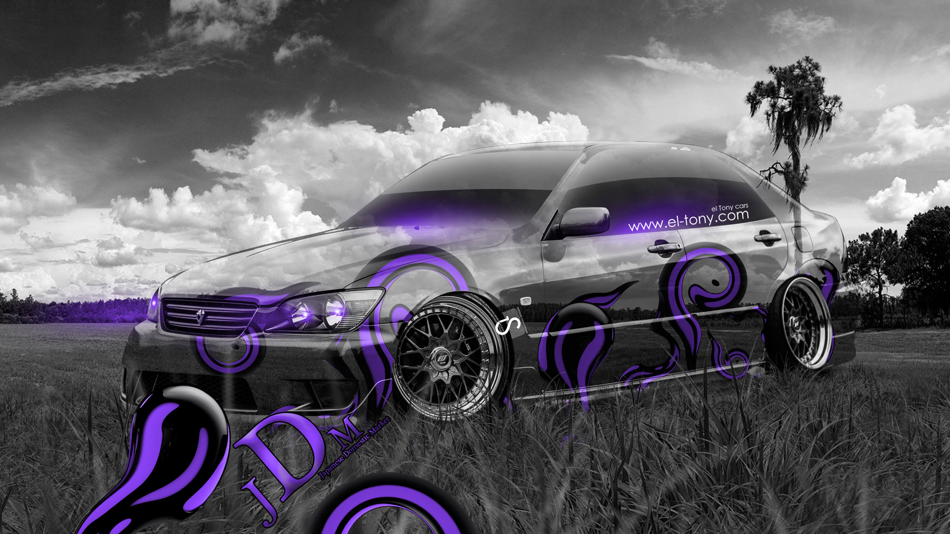 Toyota Altezza JDM Crystal Nature Car 2014 Violet
